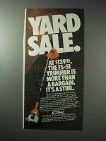 1986 Stihl FS-51AVE Weed Trimmer Ad - Yard Sale