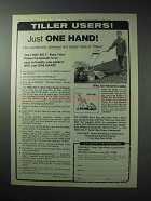1986 Troy-Bilt Roto Tiller Ad - Just One Hand!