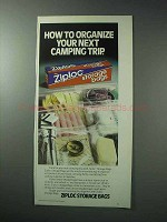 1986 Ziploc Storage Bags Ad - How to Organize
