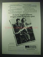 1986 Multiple Sclerosis Ad - Charity Begins at Home