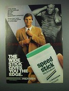 1986 Mennen Speed Stick Deodorant Ad - Gives The Edge