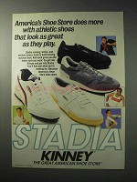 1986 Kinney Stadia Shoes Ad - Look Great As They Play
