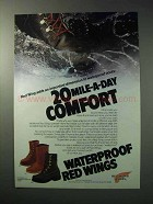 1986 Red Wing Waterproof Boots Ad - 815, 811, 859