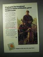 1986 Carhartt Outdoor Wear Ad - Toughest Available