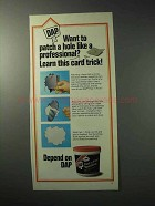 1986 DAP Fast 'n Final Spackling Ad - Learn Card Trick