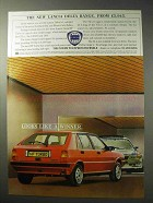 1986 Lancia Delta HF Turbo Car Ad - The New Range