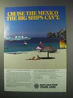 1986 Exploration Cruise Lines Ad - Cruise the Mexico