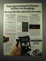 1986 Minn Kota Electric Motor Maximizer Ad - Fish Days