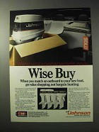 1986 Johnson Outboard Motors Ad - Wise Buy
