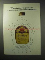 1986 Seagram's Crown Royal Whisky Ad - Great Taste