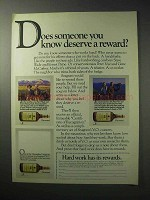 1986 Seagram's V.O. Whisky Ad - Deserve a Reward