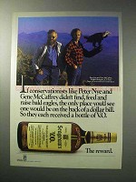 1986 Seagram's V.O. Whisky Ad - Raise Bald Eagles