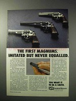 1986 Smith & Wesson Magnum Revolvers Ad - Imitated