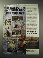 1986 Smith & Wesson Magnum Revolvers Ad - Excitement