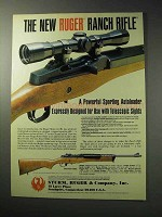 1986 Ruger Ranch Rifle Ad - Powerful Autoloader