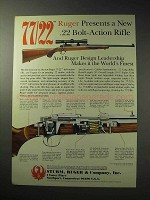 1986 Ruger 77/22 Rifle Ad - .22 Bolt-Action Rifle