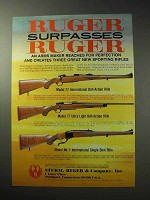 1986 Ruger Rifle Ad - Model 77, Model No. 1