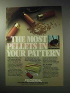 1986 Federal Shotshells Ad - The Most Pellets