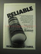 1986 Hercules Red Dot Smokeless Powder Ad - Reliable