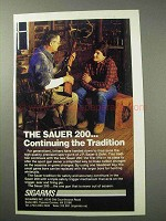 1986 Sauer 200 Rifle Ad - Continuing the Tradition