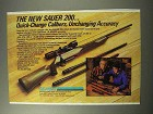 1986 Sauer 200 Rifle Ad - Quick-Change Calibers