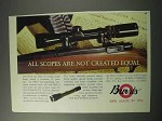 1986 Burris Scopes Ad - Not Created Equal