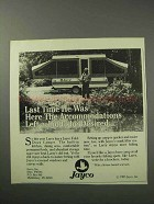1986 Jayco Fold-Down Camper Ad - Last Time He Was Here