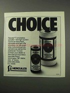 1986 Hercules Reloder 7 Smokeless Powder Ad - Choice