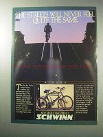 1986 Schwinn Mirada Bicycle Ad - Streets Never the Same