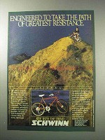 1986 Schwinn Sierra Bicycle Ad - Greatest Resistance