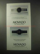 1985 Movado Museum SD, Sapphire Museum Watch Ad