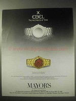 1985 Ebel Discovery Watch Ad - Architects Of Time