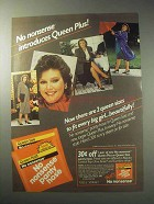 1985 No Nonsense Panty Hose Ad - Queen Plus