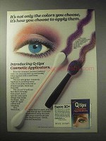 1985 Q-Tips Cosmetic Applicators Ad - How You Apply