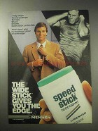 1985 Mennen Speed Stick Deodorant Ad - Wide Stick