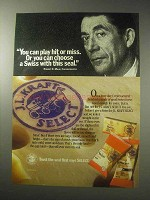 1985 J.L. Kraft Select Swiss Cheese Ad - Hit or Miss