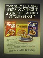 1985 Nabisco Shredded Wheat Cereal Ad - Spoon Size