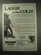 1985 Damart Underwear Ad - Laugh at the Cold