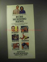 1985 CBS Morning News Ad - Bill Kurtis, Phyllis George
