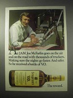 1985 Seagram's V.O. Canadian Whisky Ad - Joe McFarlin