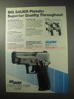 1985 Sigarms Sauer Pistols Ad - P 220 P 230 P 225 P 226
