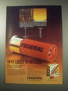 1985 Federal Shotshells Ad - Likely to Succeed