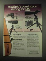 1985 Redfield Ad - Collimator, Armor Coated Cat Scope