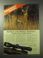 1985 Redfield Low Profile Widefield Scope Ad