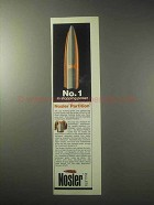 1985 Nosler Bullets Ad - No. 1 in Stopping Power