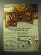 1985 Colt Government Model 380 Auto Pistol Ad