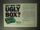1985 Sierra Varminter Bullets Ad - Why the Ugly Box?