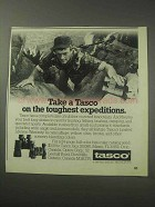1985 Tasco Binoculars Ad - Toughest Expeditions