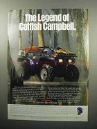 1989 Honda FourTrax 4x4 ATV Ad - Catfish Campbell