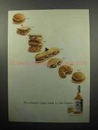 1989 Jim Beam Bourbon Ad - Come Back to the Basics